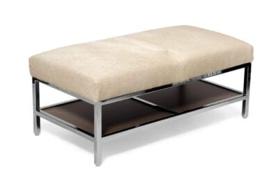 Metal Coffee Table With Cowhide Outpost Original