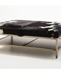 Metal Coffee Table With Cowhide