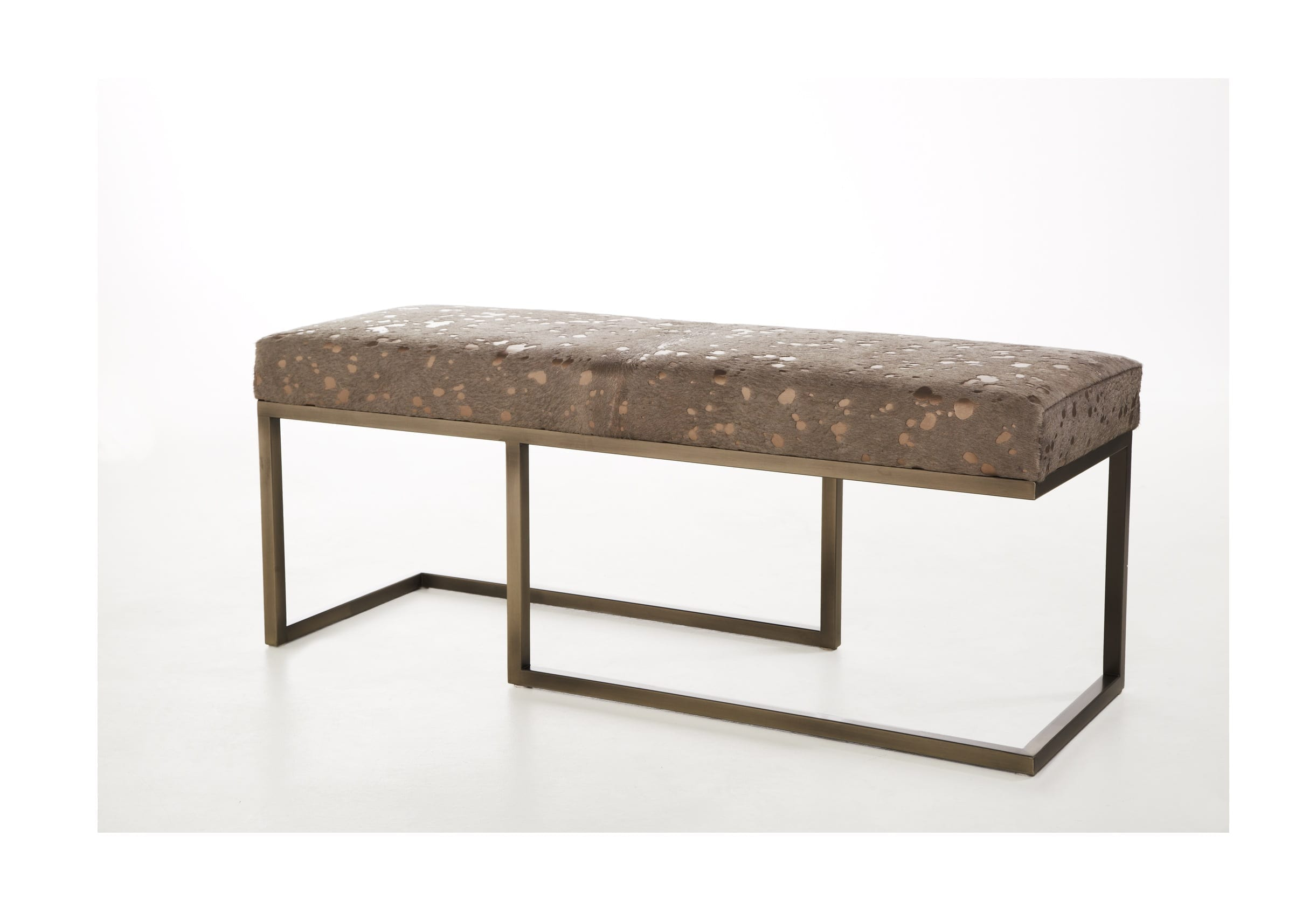 Metal Bench With Cooper Hide