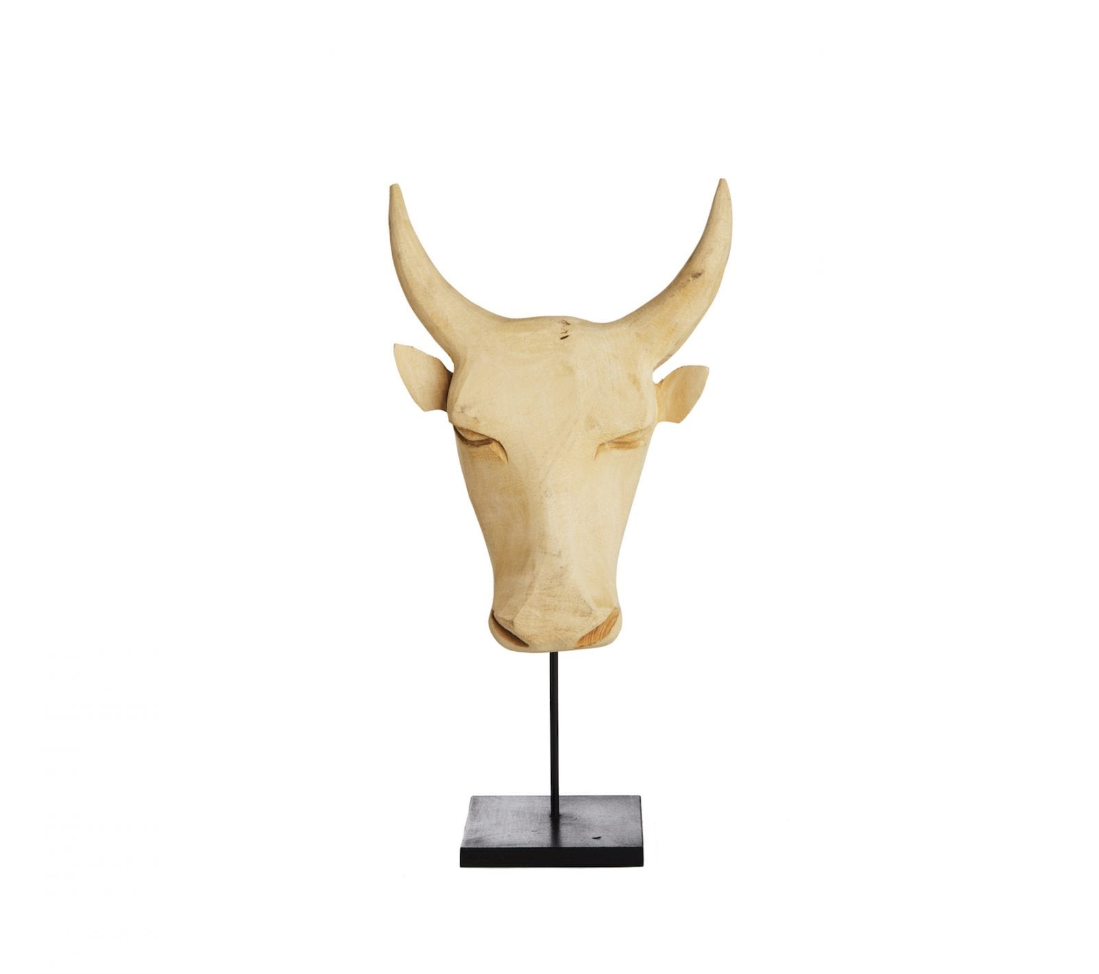 Bull Head from Swaziland in Natural Wood