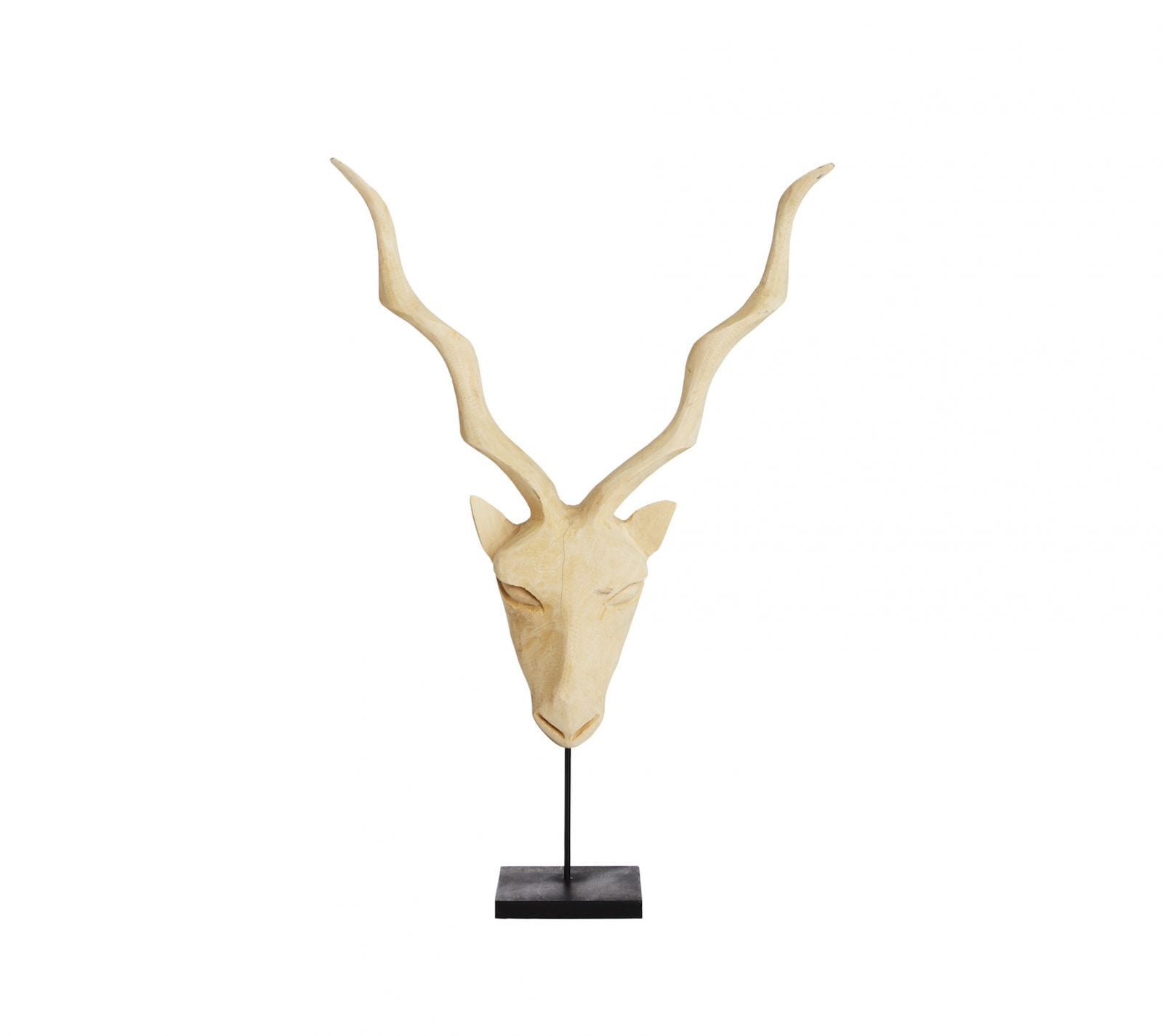 Kudu Carving from Swaziland in Natural Wood