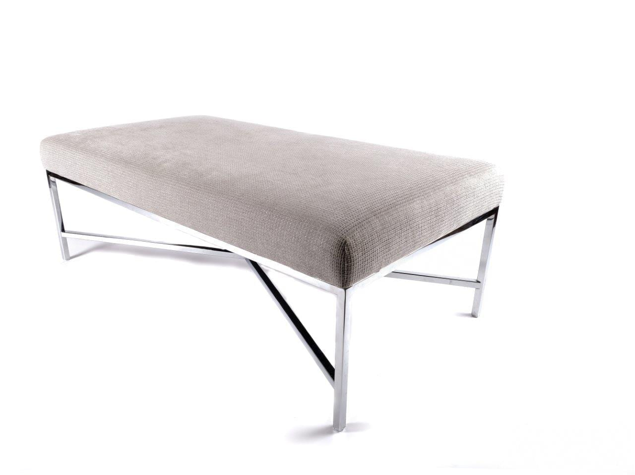 Prime Grey Fabric Bench 46X24X16 Gmtry Best Dining Table And Chair Ideas Images Gmtryco